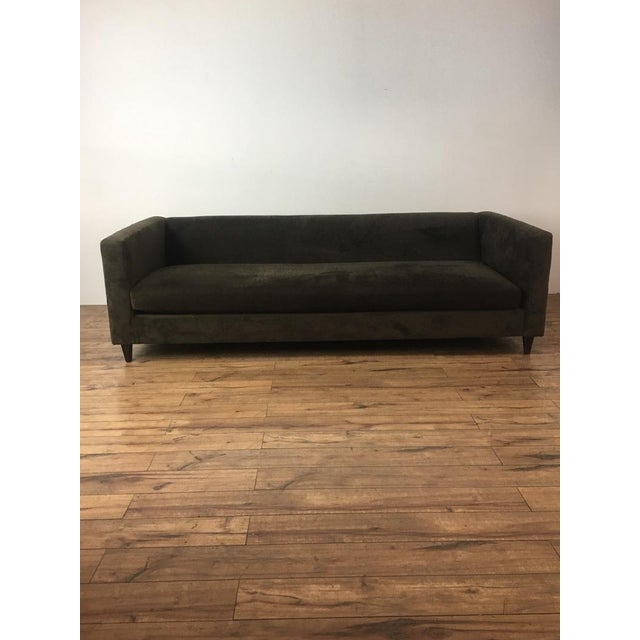 Crate & Barrel Brown Suede Sofa - Image 6 of 6
