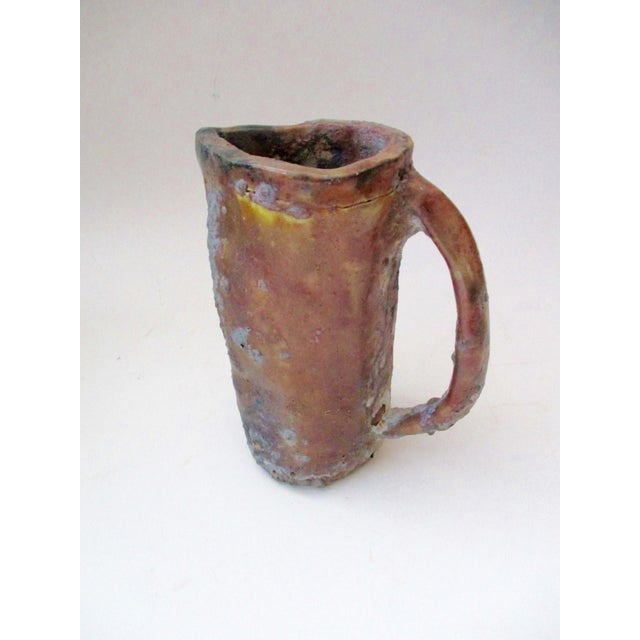 Brutalist Thick Glazed Pitcher Vase - Image 2 of 10