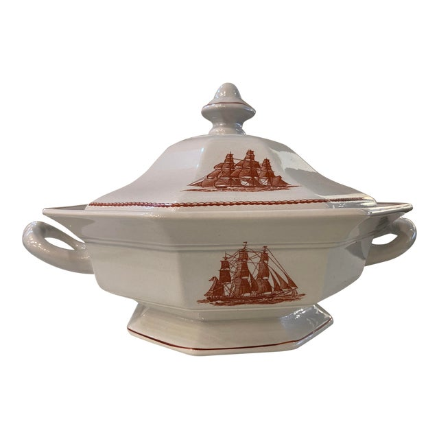 Wedgwood Flying Cloud Rust Octagonal Covered Vegetable Tureen For Sale