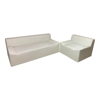 Couchoid Sofa and Lounge Chair - a Pair For Sale