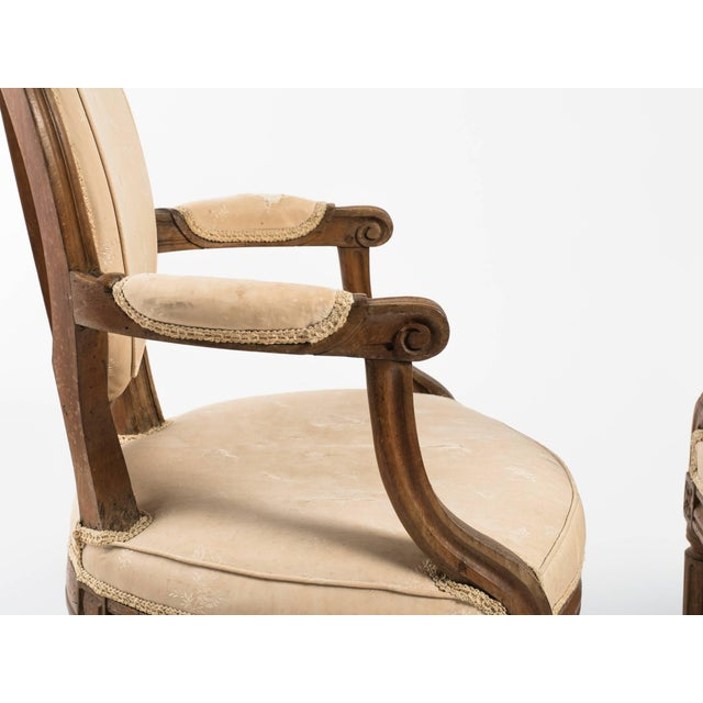 Late 19th Century 19th Century Vintage French Louis XVI Armchairs- a Pair For Sale - Image 5 of 11