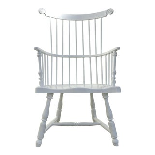 Windsor White Aluminum Dining Chair For Sale