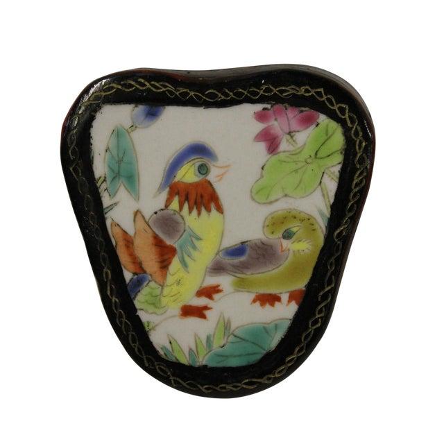 Chinese Porcelain & Wood Birds Jewelry Box - Image 1 of 5