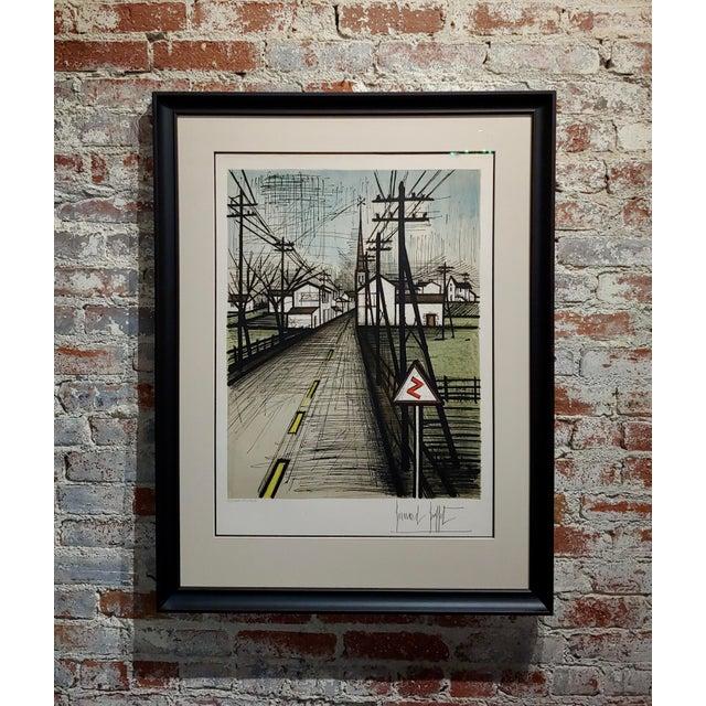 Bernard Buffet - French Street -Original 1961 Artist Proof Lithograph For Sale - Image 10 of 10