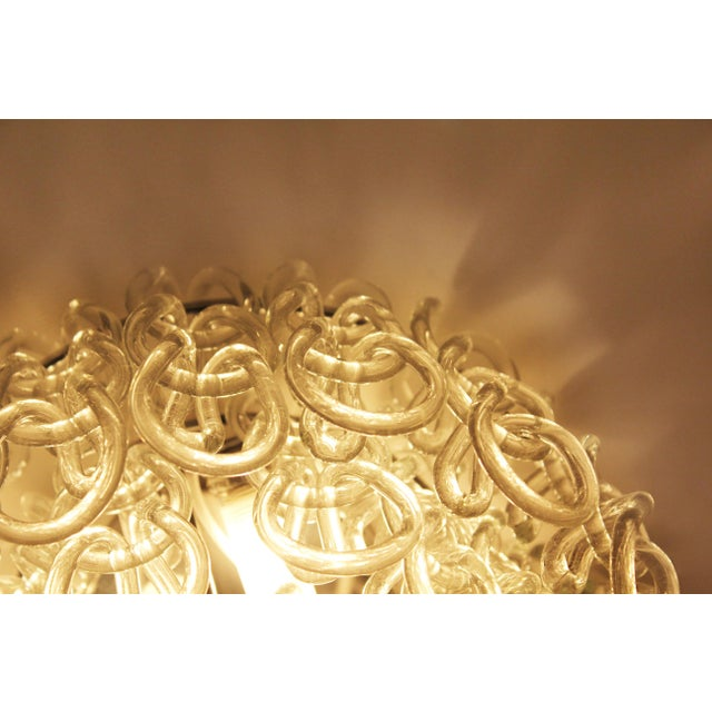 Italian Set of Four Modern Italian Crystal Ceiling Lights For Sale - Image 3 of 5