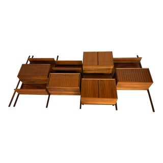 1969 Cado Walnut Royal System Wall Unit - 5 Sections For Sale