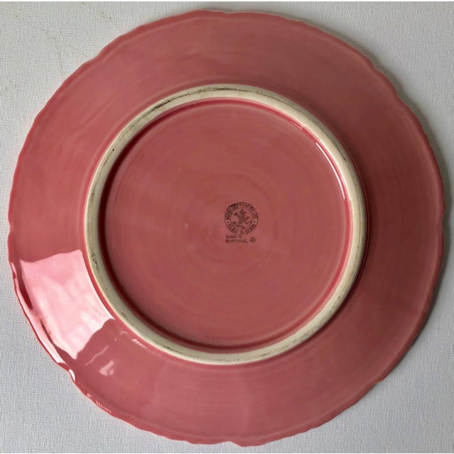 1980s Bordado Pinheiro Pink Cabbage Leaf Majolica Tureen, Lid, Platter& Ladle For Sale - Image 5 of 11