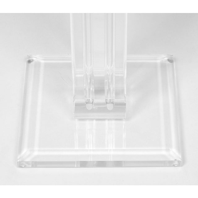 Transparent French Mid-Century Lucite Pedestal For Sale - Image 8 of 9