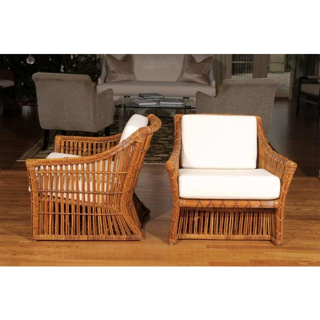 Magnificent Pair of Restored Vintage Rattan Club Chairs by McGuire - Image 6 of 10