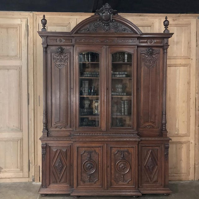 Renaissance 19th Century French Renaissance Grand Bookcase For Sale - Image 3 of 13