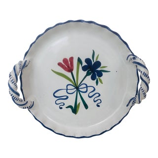 Late 20th Century Chantonnay for Shafford Italian Pottery Serving Tray For Sale