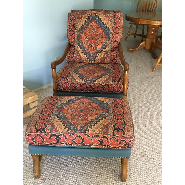 Mutton Bone Lounge Chair and Ottoman - Image 2 of 9