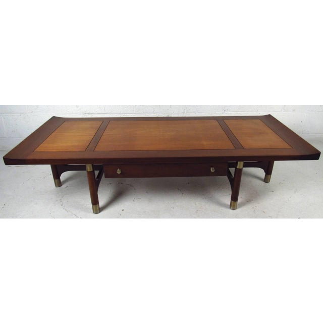 Mid Century Two Tone Coffee Table By Weiman