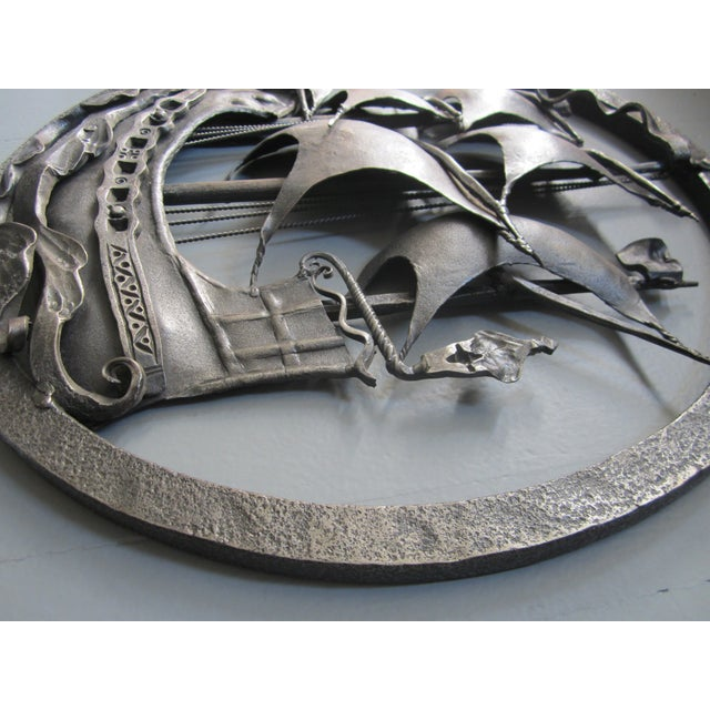 Hand-Forged Wrought Iron Spanish Galleon - Image 6 of 8