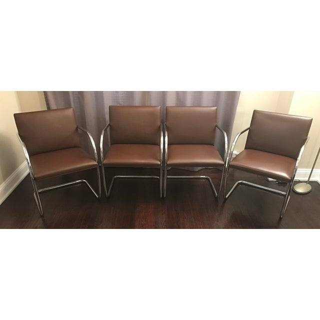 Mies Van Der Rohe for Knoll Brno Chairs - Set of 4 - Image 2 of 7