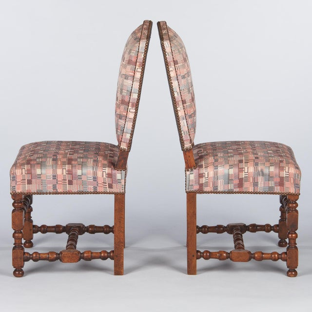 1920s Louis XIII Style Upholstered Walnut Chairs - Set of 6 For Sale - Image 9 of 13
