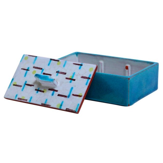 1920s German Art Ceramic Lidded Box For Sale