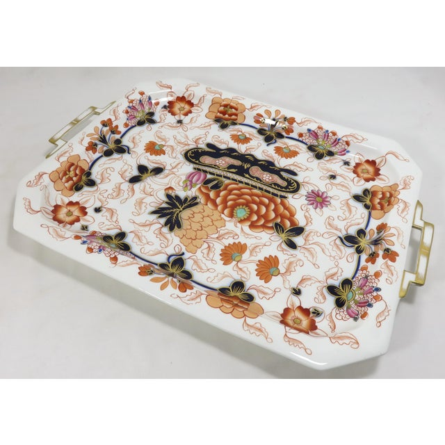 A very fine quality antique bone China serving tray. It is beautifully hand decorated in the classic Japanese Imari style...