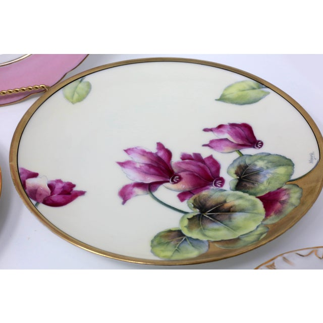 Antique Bavarian China Salad Plates - Curated Set of 8 For Sale In Tampa - Image 6 of 13