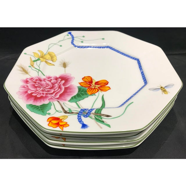"""1990s 1990s Lynn Chase """"Flores"""" Assorted Colors Dinner Plates - Set of 14 For Sale - Image 5 of 12"""