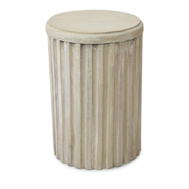 Beige Painted Pedestal Table For Sale - Image 8 of 12