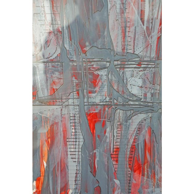 """""""IR-1534 Red Fire"""" Painting - Image 3 of 7"""