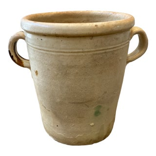 Antique Italian Confit Pot With Handles - Early 20th C For Sale
