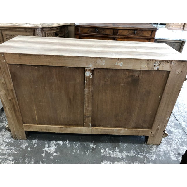Metal 19th Century Italian Walnut Carved Buffet For Sale - Image 7 of 11