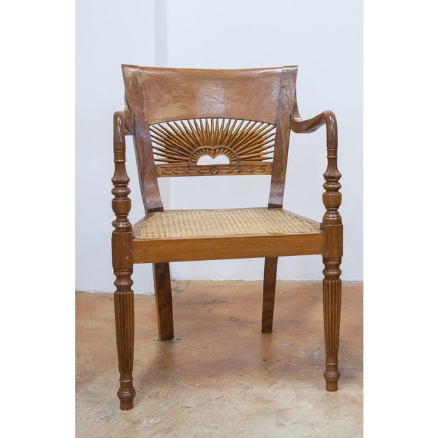 Vintage Teak & Cane Chairs - A Pair - Image 3 of 9