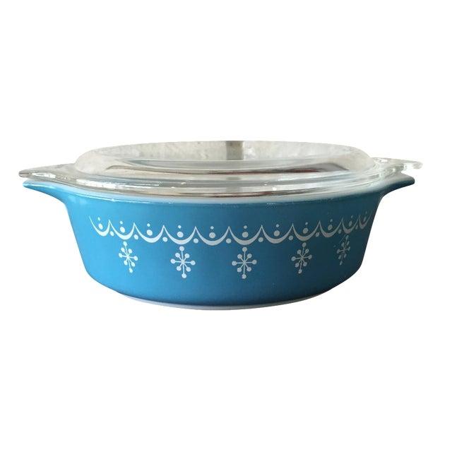 Pyrex Blue Snowflake Casserole Dish - Image 1 of 8