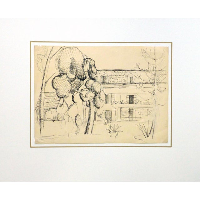 """Traditional Vintage Ink Drawing """"House of Merriment"""" For Sale - Image 3 of 4"""