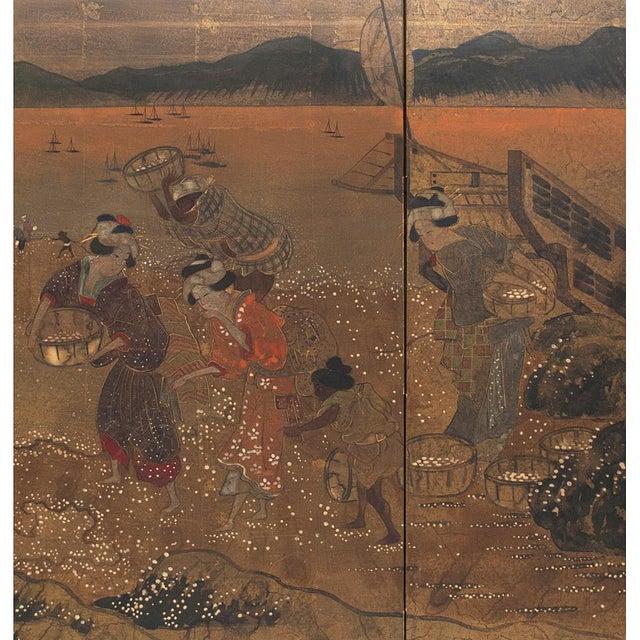 1880 Japanese Byobu Screen For Sale - Image 4 of 12
