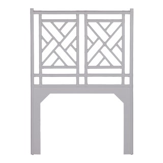 Chippendale Headboard Twin - Light Gray For Sale
