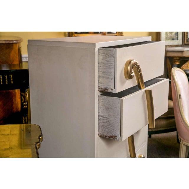 Jansen Hollywood Regency White Painted Dresser - Image 3 of 7
