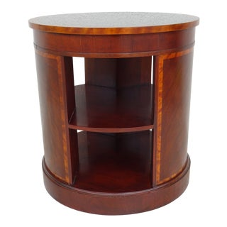 20th Century Traditional Baker Furniture Round End Table For Sale