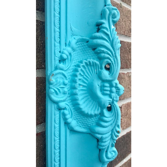Antique Tiffany Blue Plaster Picture Frame - Image 3 of 10