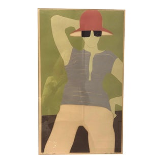 "Vintage ""Sunglasses"" Minimalist Lithograph For Sale"