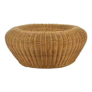 1960s Mid-Century Modern Wicker Eero Aarnio Pouf For Sale