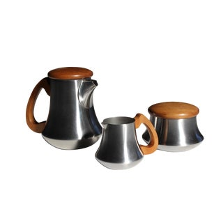 Letang & Remy Mid Century Modern Tea/Coffee Set - 3 Pieces For Sale