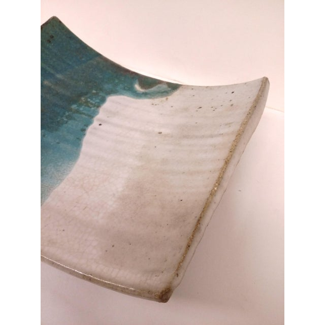 Mid-Century Artisan Ceramic Sushi Tray For Sale In Boston - Image 6 of 10