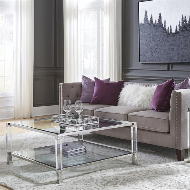 The distinct design of our Clare Coffee Table is clear! It features mixed materials combining them to create this stunning...