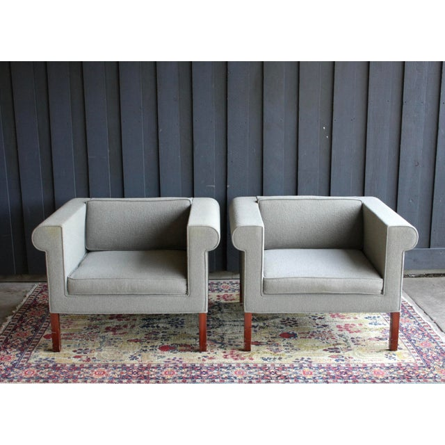Charles McMurray Postmodern Lounge Chairs, a Pair For Sale - Image 4 of 11