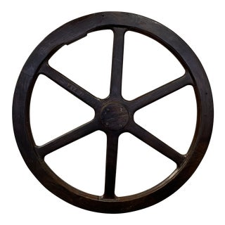 Large Antique Industrial Wooden Foundry Wheel Mold For Sale