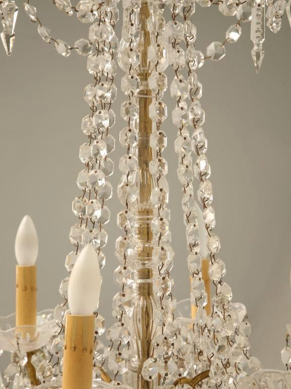 c.1940 French Baccarat Style 6 Light Crystal Chandelier - Image 11 of 11  sc 1 st  Decaso : baccarat lighting - www.canuckmediamonitor.org