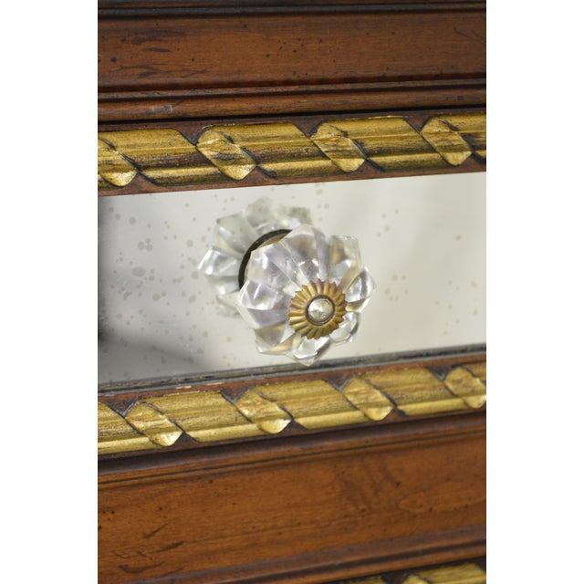 EJ Victor Julia Gray Collection Mirrored Louis XVI Style Chest Commode For Sale - Image 10 of 10