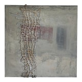Image of Signed Abstract Mixed Media Painting For Sale