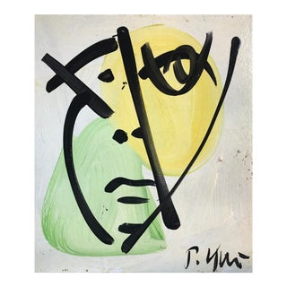 Abstract Portrait Painting by Peter Keil For Sale