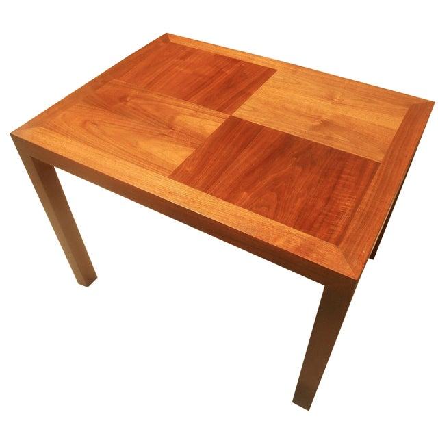Lane Mid-Century Parquet Side Table For Sale