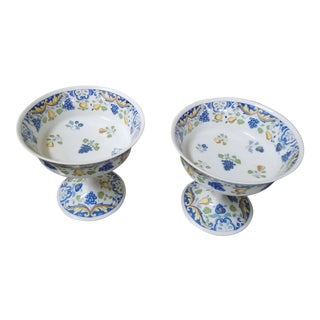 Antique Faience Compote Dishes