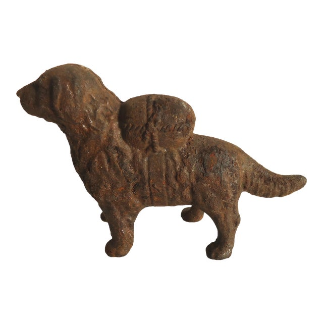 antique cast iron dog bank chairish. Black Bedroom Furniture Sets. Home Design Ideas